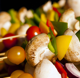 Skewered Vegetables