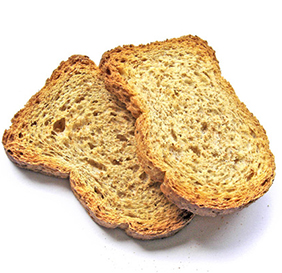dry toast without butter